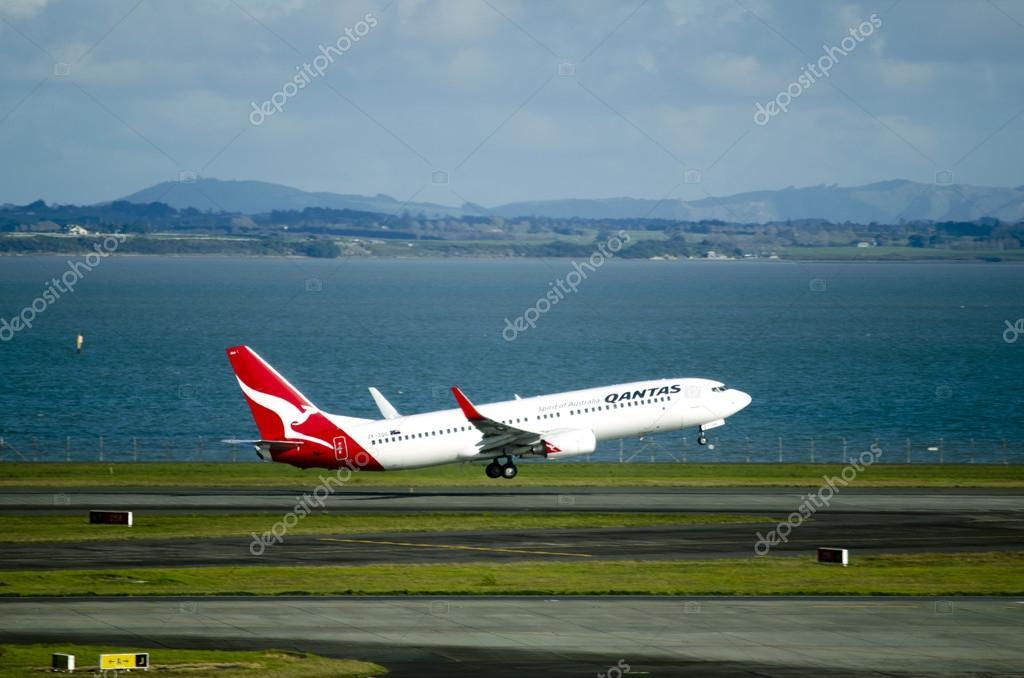 Qantas plane takeoff