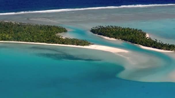 Tropical Islands in Aitutaki Lagoon, Cook Islands.
