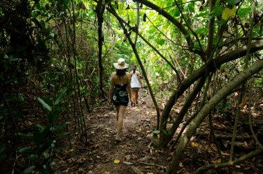 Tourist visit Rapota Island in Aitutaki Lagoon Cook Islands