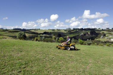 Man ride on lawn mower
