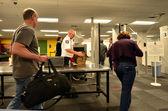 Sicherheitsstation am Flughafen
