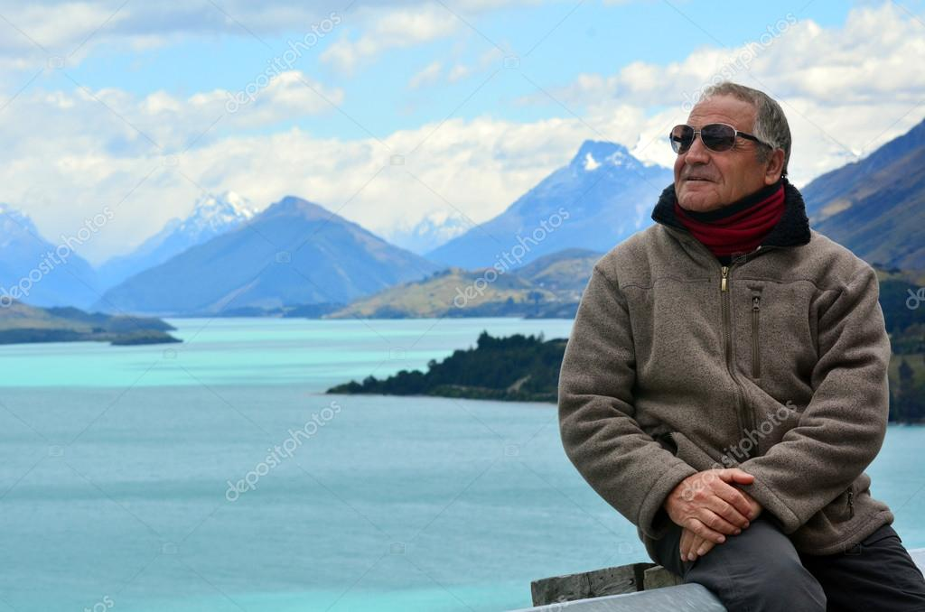 Mandsome mature man travel