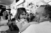 családias fogadtatás a repülőtéren