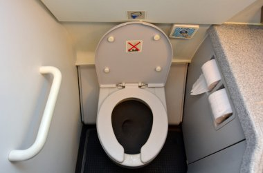 Aircraft lavatory toilets