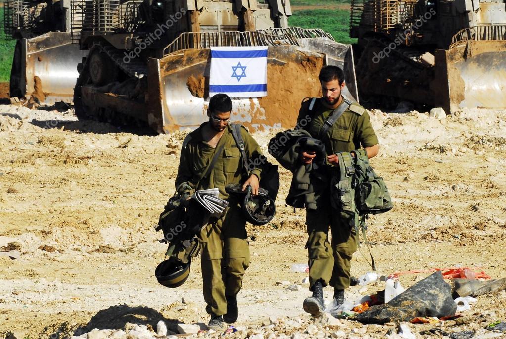 Израильские солдаты - ИДФ - израильская военная армия — стоковое фото