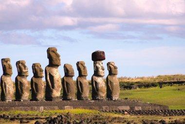 Moai at Ahu Tongariki, Easter Island, Chile