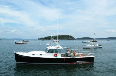 Lobster boats at French Bay near Bar Harbor, Maine