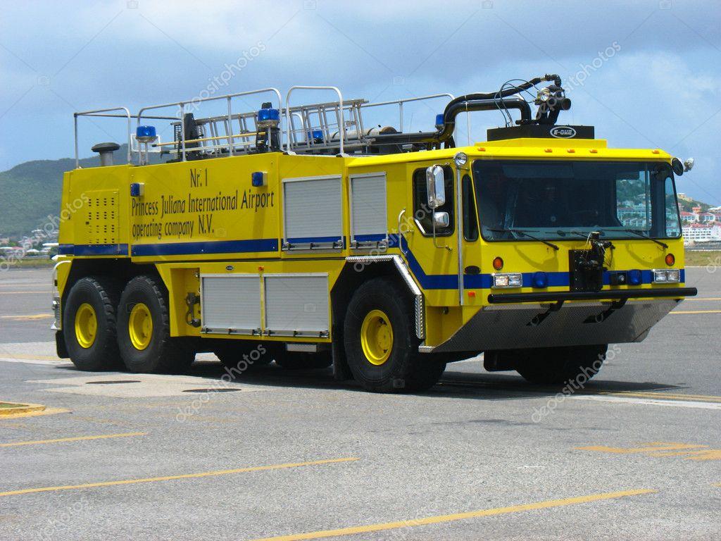 Fire truck in Princess Juliana Airport, St. Maarten