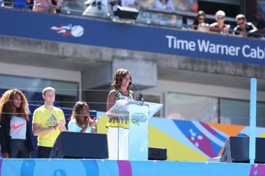 First Lady Michelle Obama Encourages Kids to Stay Active at Arthur Ashe Kids Day at Billie Jean King National Tennis Center
