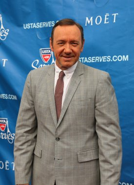 Two times Academy Award winner Kevin Spacey at the red carpet before US Open 2013 opening night ceremony