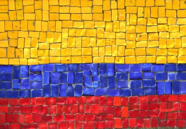 Colombian Flag in Mosaic