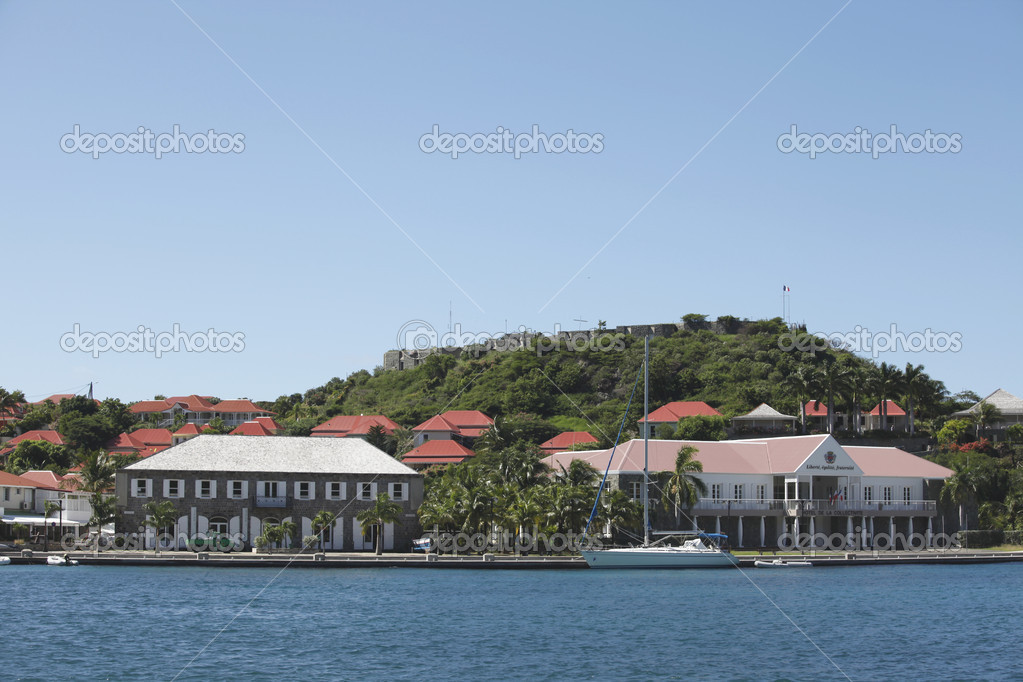 Fort Oscar , Hotel de Ville and Wall House in Gustavia, St