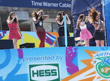 American girl group Fifth Harmony performs at the Arthur Ashe Kids Day 2013 at Billie Jean King National Tennis Center