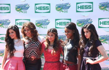 American girl group Fifth Harmony attend the Arthur Ashe Kids Day 2013 at Billie Jean King National Tennis Center