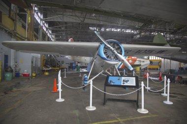 Restored Lockheed Vega Winnie Mae plane at Floyd Bennett Field