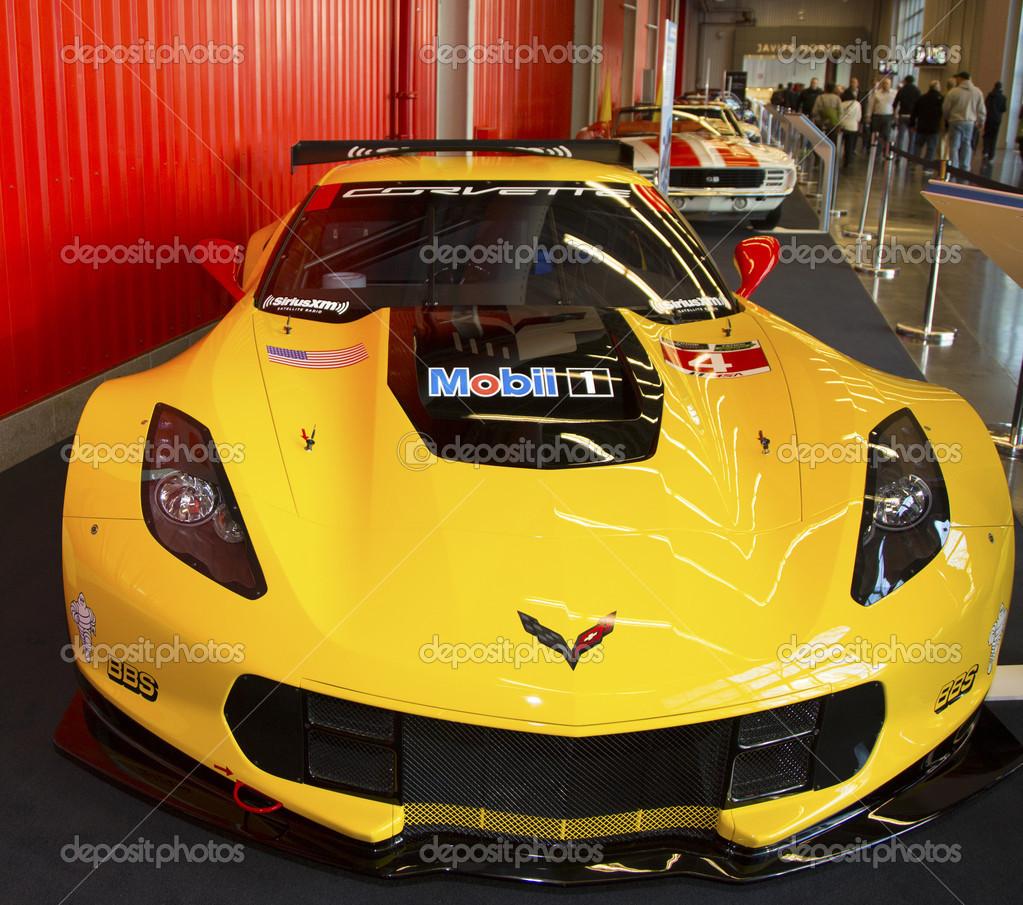 Chevrolet Corvette C7 R Yarış Arabası 2014 New York Uluslararası