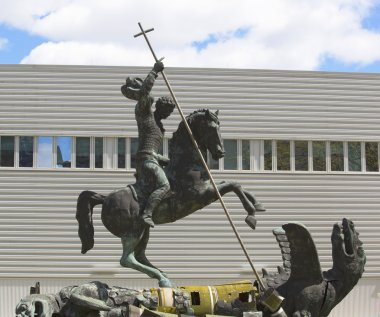 Sculpture titled Good Defeats Evil presented to United Nations by the Soviet Union in 1990 in New York