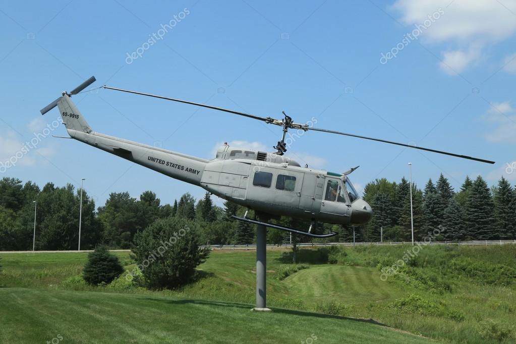 Huey Helicopter UH-1D at  Vietnam War Memorial