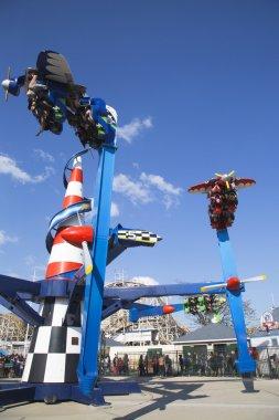 Air race at Coney Island Luna Park