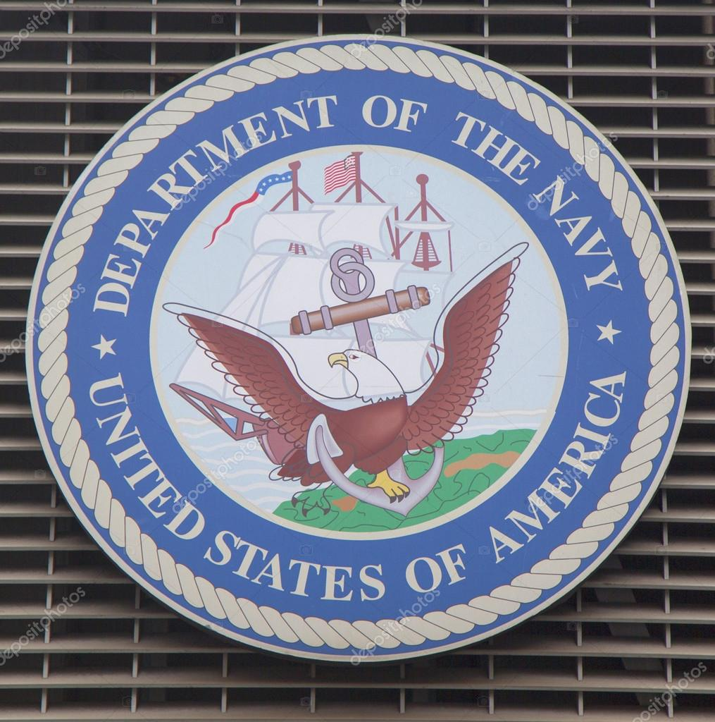 Department Of The Navy Logo On Us Armed Forces Recruiting Station