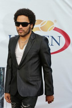 Four times Grammy Award winner Lenny Kravitz at the red carpet before US Open 2013 opening night ceremony