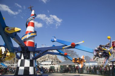 Air race in Coney Island Luna Park