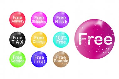 Set of free badge