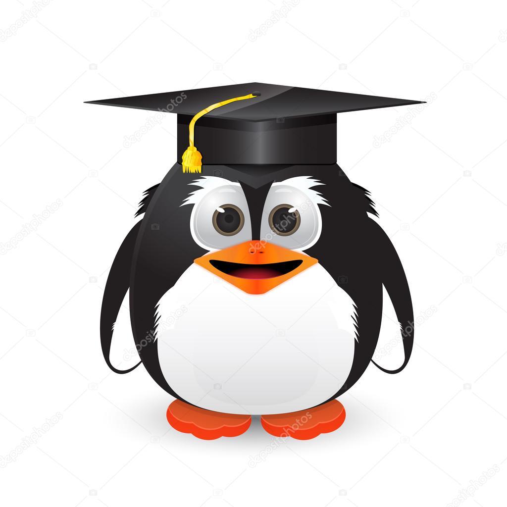 Pinguino Con Cappello Di Laurea Vettoriali Stock Nopember3079