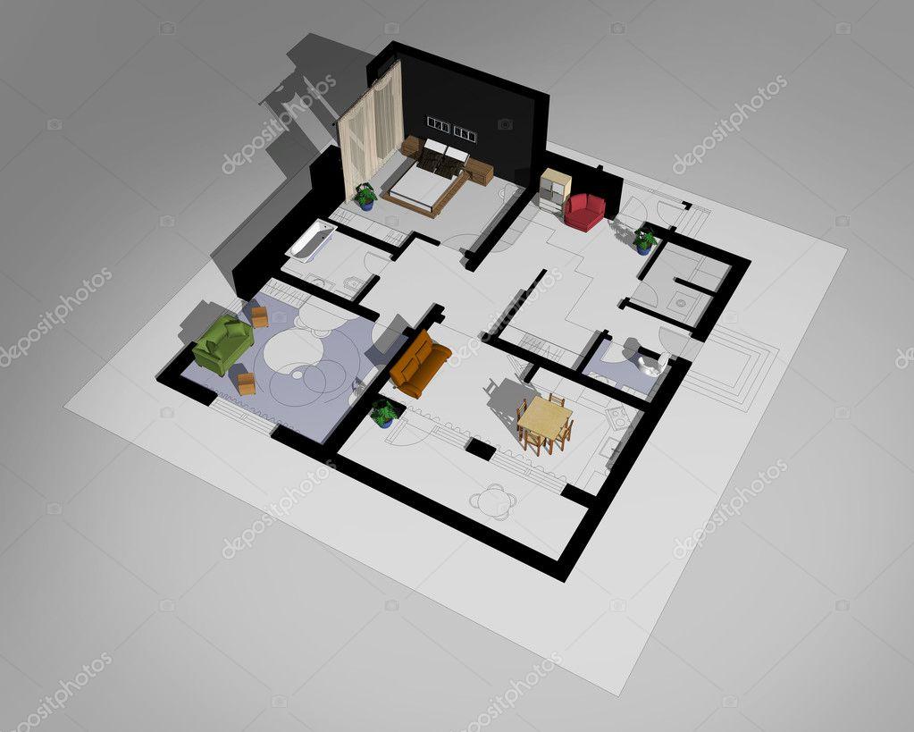 Disegni schizzi i piani di contorno e gli interni di for Piani di costruzione di edifici in metallo