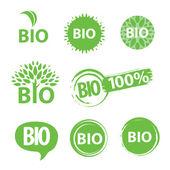 Fotografie Eco, natural and organic symbols or logos
