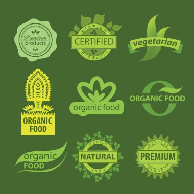 Eco, natural and organic symbols or logos