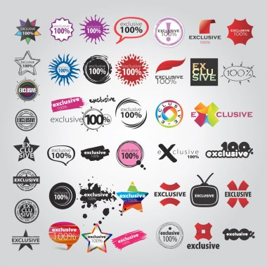 Set template of Logotype stock vector