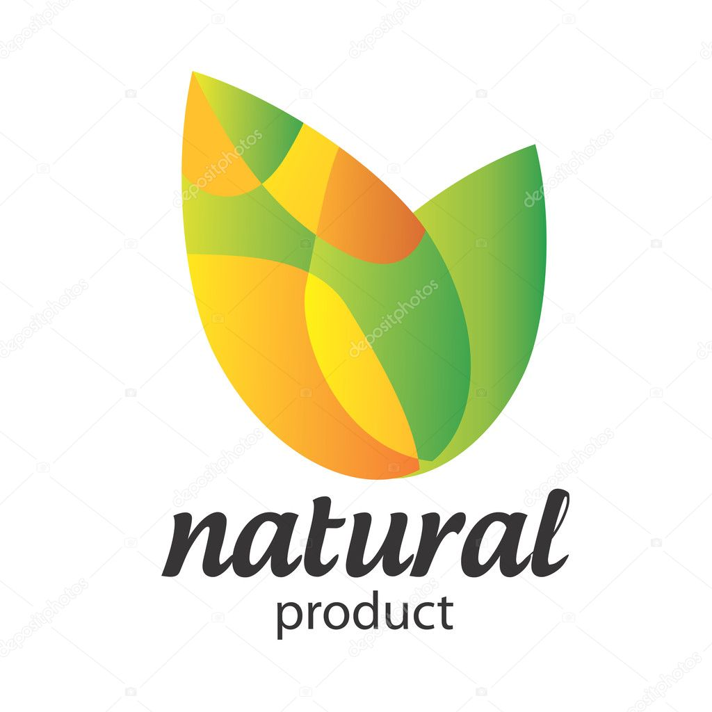 Organic Food, Eco product logo.