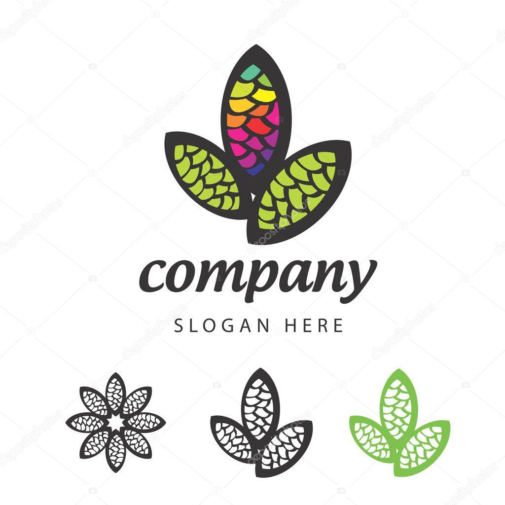 Eco icon. leaves logo