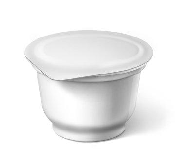 food plastic container , dessert, yogurt, sour cream