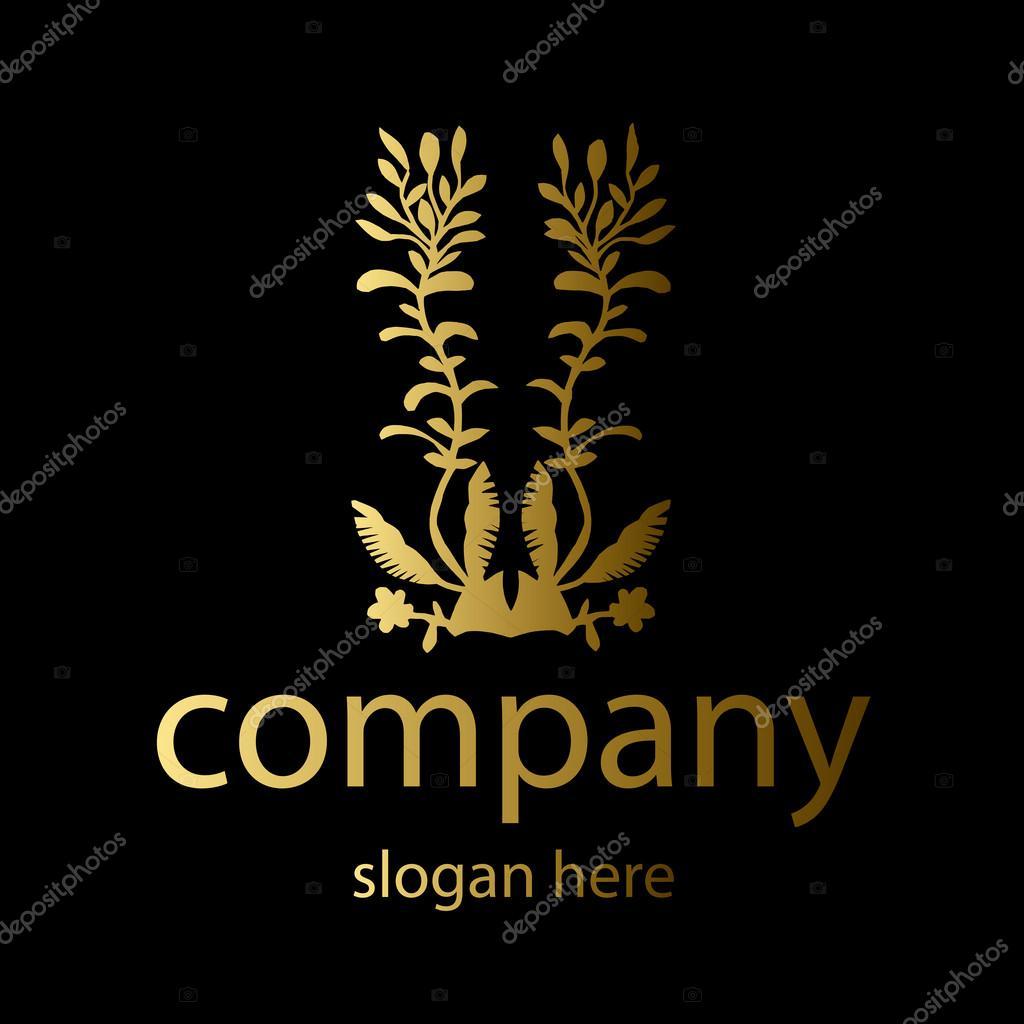 plants logo in gold