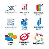 Fényképek gyűjtemény a vektoros logók a bankok és pénzügyi társaságok