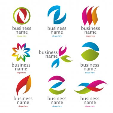vector collection of abstract colored logos