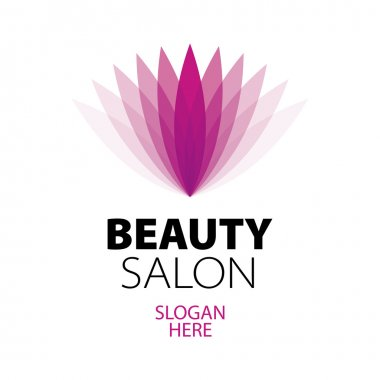 Abstract logo beauty salon clip art vector