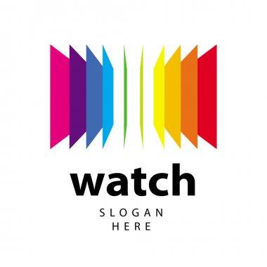 Vector logo range of colored folders