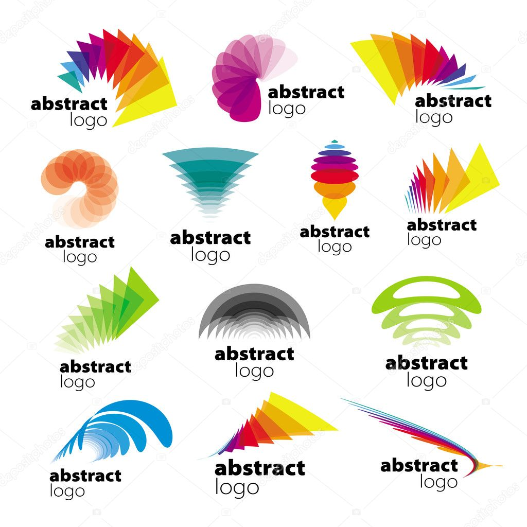 vector collection of abstract logos range
