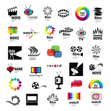 Collection of logos tv, video, photo, film