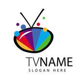 Vektor-Logo-Bildschirm Tv Farbbereich