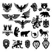 Vektor stylizované heraldický symbol