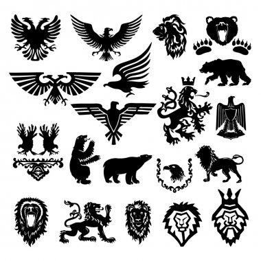 vector stylized heraldic symbol