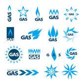 Sammlung von Vektorlogos von Erdgas