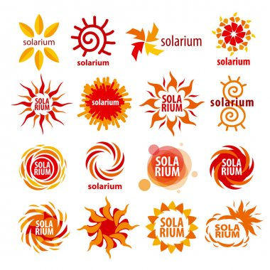 vector collection of different logos for solarium