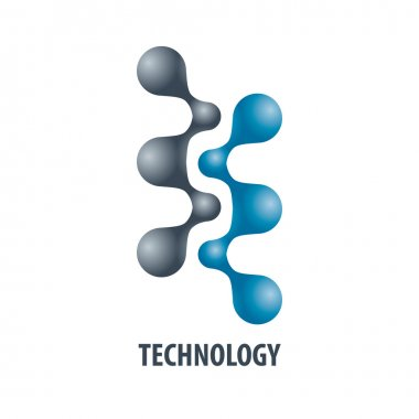 Technology logo in the form of atoms5