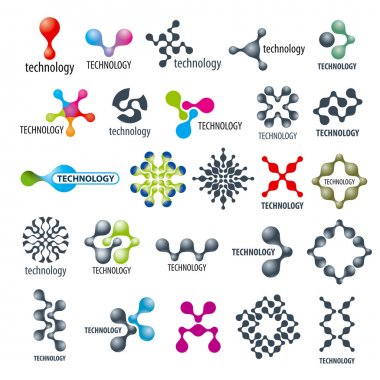 vector collection of different technological logos