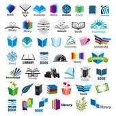 Fotografia più grande collezione di libri di loghi vettoriali
